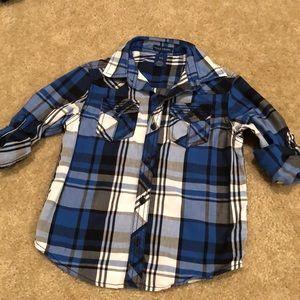 Falls Creek button down plaid dress shirt
